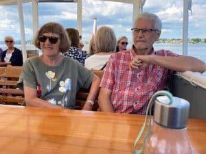 Kirsten og Per Millek på tur med Helge i det sydfynske øhav.