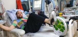 John Nielsen er 36 år og én af de dialyse-patienter, der bruger sengecyklen på Rigshospitalet.