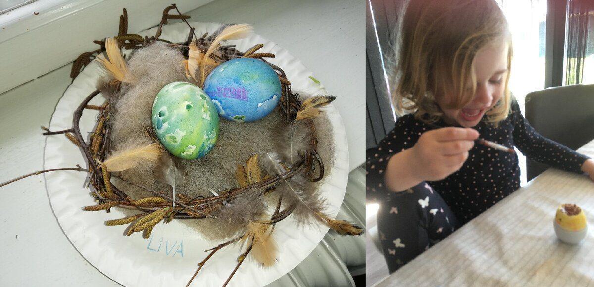 Farvede æg