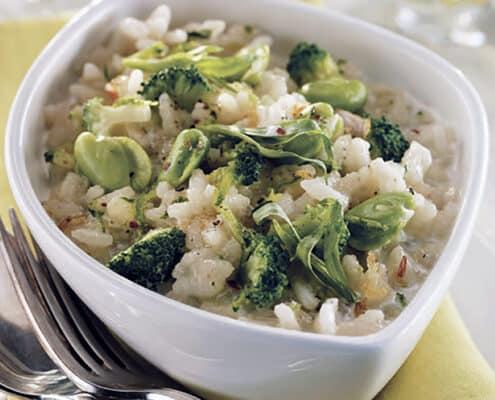 risotto og broccoli